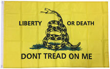 3x5 Ft LIBERTY OR DEATH DONT TREAD ON ME Flag Tea Party Gadsden yb