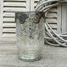 argent antique style paysan Porte-bougies XL Ø 8, x 14 cm photophore chandelier