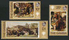 Gambia 391-393, MNH. Intl. Year of the Child. Painting by W.P.Frith, 1979