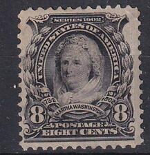 More details for usa 1902 martha washington 8¢ black scott #306 mint not hinged no gum