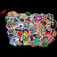 100xRandom music film Vinyl Skateboard Guitar Travel Case Sticker Pack Decal