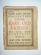 "Vintage Antique Old ""Lyon & Healy 1909 Rare Old Violins"" Violin Reference Book"