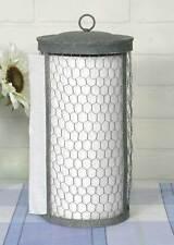 Rustic Farmhouse Style Chicken Wire Paper Towel Holder Primitive Kitchen Decor
