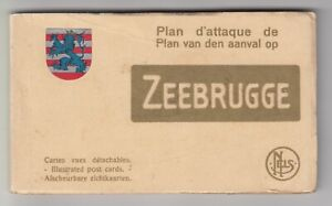 ZEEBRUGGE Booklet 20 Cartes Plan D'Attaque - WW1 Pied Postcards