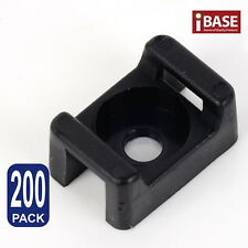 Zip Tie Mount Wire Cable Saddle Holder Screw Fixing Mounting Base Clip Retardant