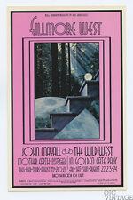 Bill Graham 188 Postcard Ad Back John Mayall Mother Earth 1969 Aug 19