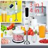 600-1000W Electric Baby Food Processor Hand Blender Stick Mixer Set Fruit Juicer