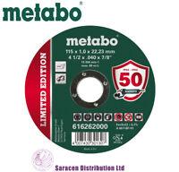"""METABO 4.5"""" INOX METAL CUTTING DISCS 115 x 1 x 22.23mm - 616262000"""