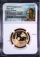 2019 S Proof Native American Mary Ross NGC PF70 Dollar from 10-coin-silver-set