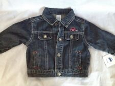 CARTER'S NWT BOYS JEAN JACKET 9M 2 FRONT POCKETS SNAP UP LONG SLEEVE 100% COTTON