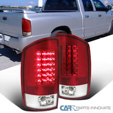 For 02-06 Dodge Ram 1500 2500 3500 Pickup Red Clear LED Tail Lights Brake Lamps