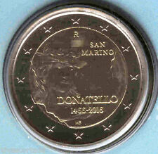 San Marin 2016  Porte-documents officiel 2 Euros Donatello Nº 15