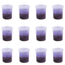 Pajoma Votivkerze Lavendel marmorierte Duftkerze 12er Pack