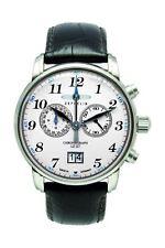 Zeppelin LZ-127 Herrenuhr Chronograph Leder Braun Edelstahl 7686-1
