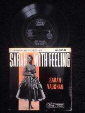 Sarah Vaughan - Sarah With Feeling (Misty etc) 4 Track Vinyl EP Mercury ZEP10041