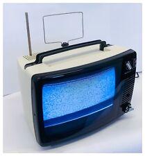 """TV TELEVISORE PORTATILE Vintage TRIPLEX Milano Anni '70 12"""" B/N FUNZIONANTE"""