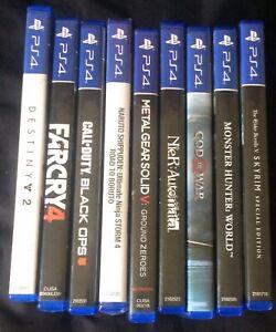 PS4 Game Bundle Lot - 9 Games - God Of War - Monster Hunter - Nier - Skyrim
