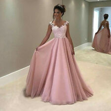 Women Long Lace Formal Evening Party Dresses Christmas Prom Gowns Cocktail Dress