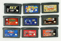 Lot of 9 Game Boy Advance Games - Monster Trucks, Fortress, Froggers, GT Advance