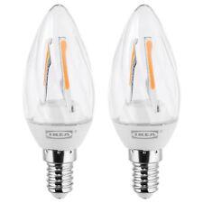 IKEA Ryet Led bulb E14 200 lumen 2 Pack [Chandelier/twisted clear]