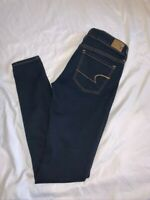 American Eagle Size 2 Long Super Stretch Jegging Jeans Womens Dark Wash