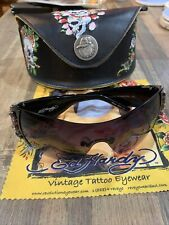 $399 Ed Hardy Sunglasses Amethyst with Case and Extra Stones