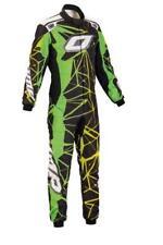 OMP One Art Race Fireproof Suit Ia01857 FIA Top Level - Black/green/yellow 56