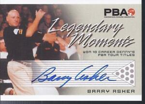 2008 PBA Bowling Autograph Legendary Moments Barry Asher