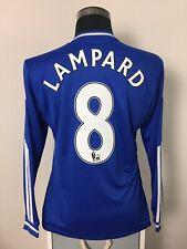 LAMPARD #8 Chelsea Long Sleeve Home Football Shirt Jersey 2013/14 (M)