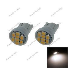 2X Warm white 8 SMD 1206 LED T10 W5W Wedge Side Light Car Bulb Lamp 12V 20010