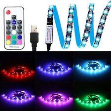 100cm-39in. USB RGB 30 LED TV Backlight Strip Color Changing RF Remote US Seller