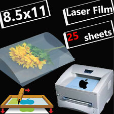8.5 x 11,Silk Screen Plate Making Transparency Laser Printing Film,25 sheets