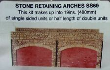 Wills KIt SS69 Stone Retaining Arches boxed OO gauge (L)