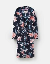 e141bcbd10 Joules 124814 Fluffy Hooded Dressing Gown S in FRENCH NAVY DHALIA FLORAL