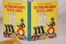 LES TROIS MECHANTS PETITS LOUPS WALT DISNEY ILLUSTRE 1937