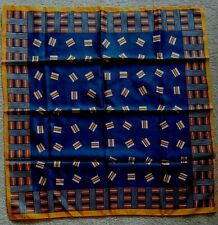 """Vintage Alexander'S Geometric Print Scarf 100% Polyester 26 x 27"""" Made in Italy"""