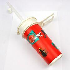 Coca-Cola Coke 0,5 l Vasos Tumbler+Cubierta Pajita para beber Música Motivo roja