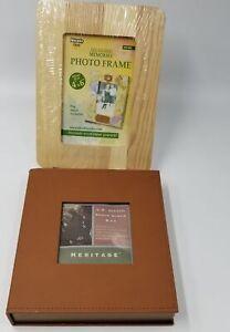 "C R Gibson Photo Album Box 7.75""x 7.75"" Nicole Crafts Value Wood Frame New Lot 2"