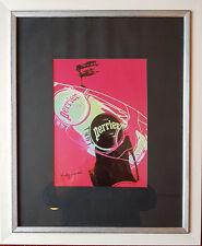 Andy Warhol Perrier Siebdruck mit Orig. Signum Gekauft in Kestnerausstellung