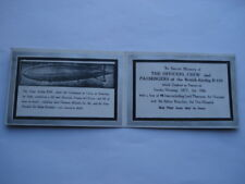 IN SACRED MEMORY THE BRITISH AIRSHIP R.101 THAT CRASHED IN FRANCE MEMORIUM CARD
