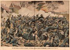 MANDCHOURIE BATAILLE MOUKDEN JAPONAIS RETRANCHES DANS CADAVRES IMAGE 1905 PRINT