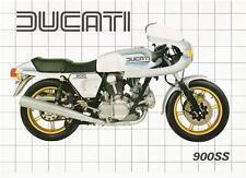 1982 Ducati 900SS silver dual seat 2 page brochure