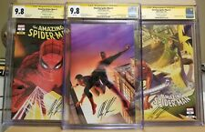 AMAZING SPIDER-MAN #1 CGC 9.8 SS ALEX ROSS *SIGNED* A B C VARIANT SDCC SET