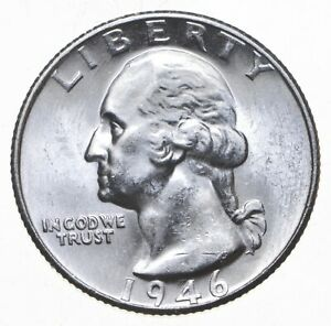 Unc BU MS 1946-S - US Washington 90% Silver Quarter Coin Set Break *740