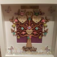 Personalised handmade Family tree wall plaque gift keepsake Wall Sign P56