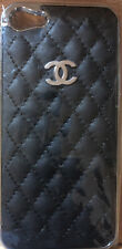 Chanel Iphone 5 Phone Case Black Leather W/Silver CC