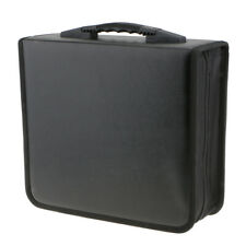CD DVD Organizer Holder Storage Case Bag Wallet 400 Capacity Album Disc Black