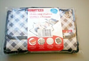 Baby Changing Station Foldable Gray Gingham Design by Skip Hop Pronto NWT