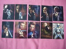 Star Wars Episode 2 Attack of the Clones X10 Foil chase cards Topps 2002 VFN