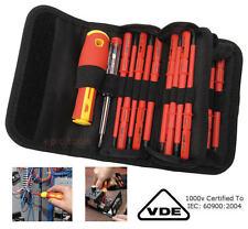 Draper Electricians VDE Insulated Screwdriver Set 18pc PZ Interchangeable 05776